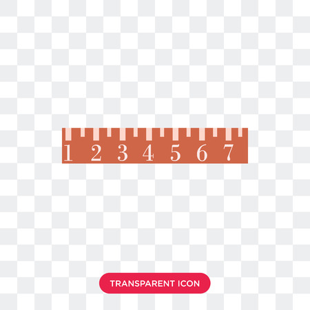Ruler vector icon isolated on transparent background, Ruler logo concept