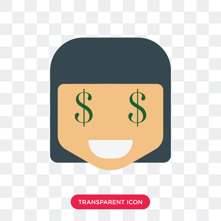 Rich smile vector icon isolated on transparent background, Rich smile logo concept