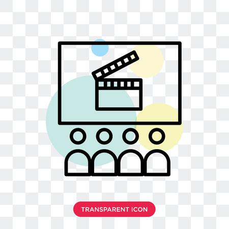 Cinema vector icon isolated on transparent background, Cinema logo concept