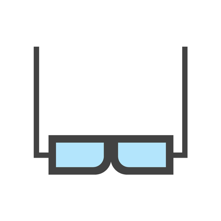3d glasses icon vector isolated on white background for your web and mobile app design, 3d glasses logo concept Illustration