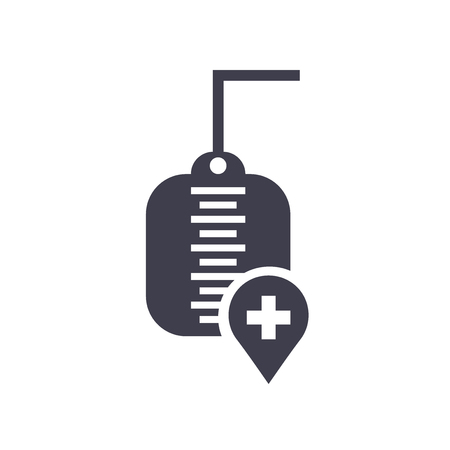 Transfusion icon vector isolated on white background for your web and mobile app design, Transfusion logo concept Vettoriali