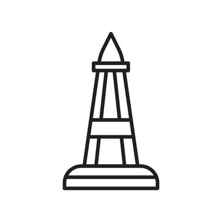 Obelisk icon vector isolated on white background, Obelisk transparent sign , thin line design elements in outline style