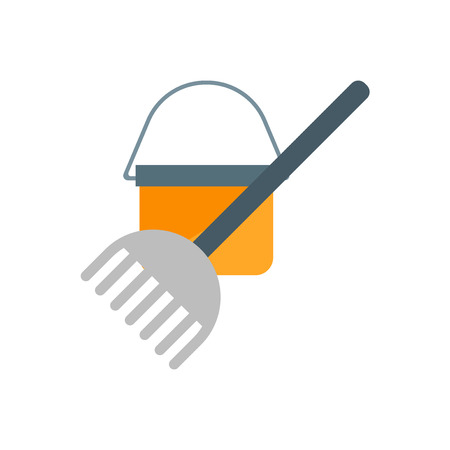 Mop icon vector isolated on white background for your web and mobile app design, Mop logo concept