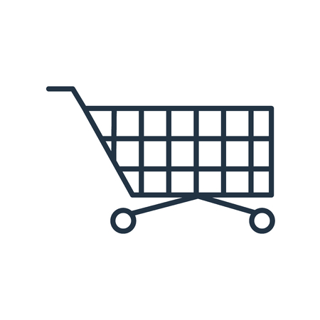 Cart icon vector isolated on white background, Cart transparent sign  イラスト・ベクター素材