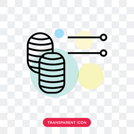 Knitting vector icon isolated on transparent background, Knitting logo concept