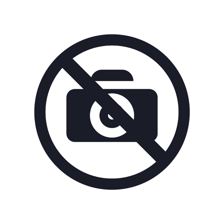 No pictures icon vector isolated on white background for your web and mobile app design, No pictures logo concept