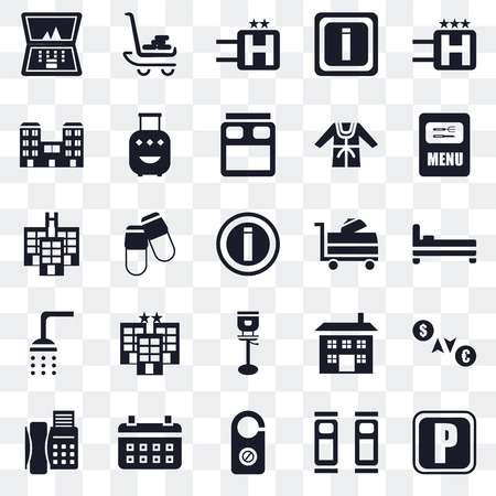 aa743030724 Set Of 25 transparent icons such as Parking