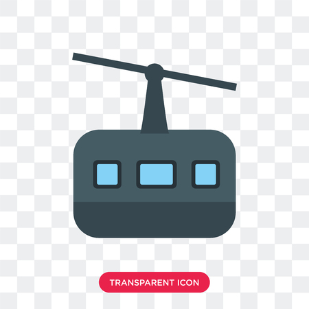 Cableway vector icon isolated on transparent background, Cableway logo concept