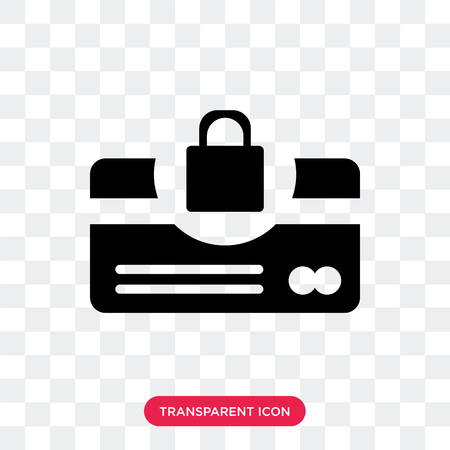 Protected cit card vector icon isolated on transparent background, Protected cit card logo concept Illustration