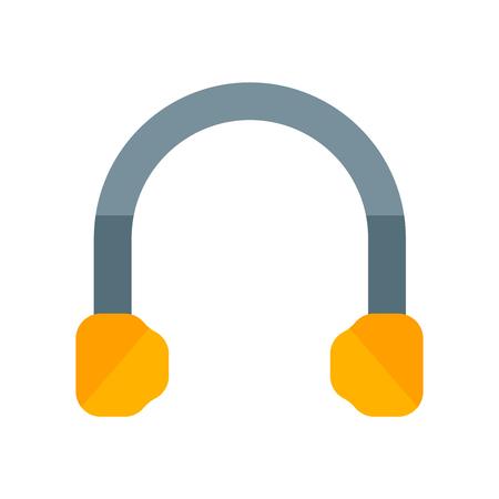Vecteur d'icône casque isolé sur fond blanc pour la conception de votre application web et mobile, concept logo casque