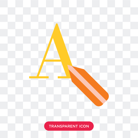 Text editor vector icon isolated on transparent background, Text editor logo concept