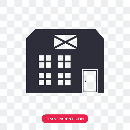 Post office vector icon isolated on transparent background, Post office logo concept