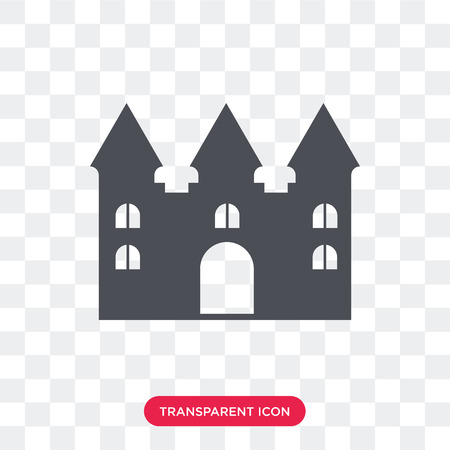 Bouncy castle vector icon isolated on transparent background, Bouncy castle logo concept