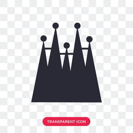 Familia building vector icon isolated on transparent background,  Familia building logo concept Illustration