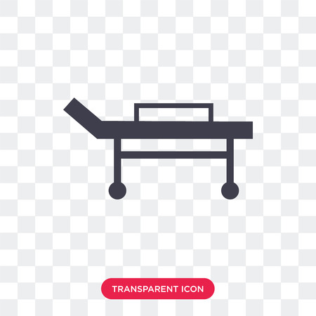 Stretcher vector icon isolated on transparent background, Stretcher logo concept