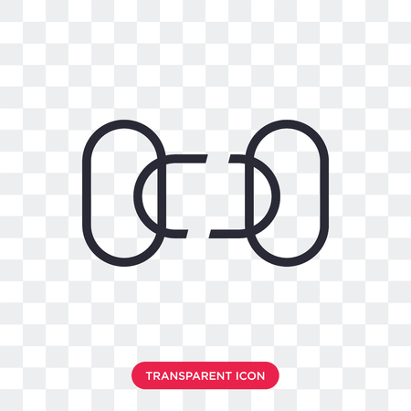 Disconnected chains vector icon isolated on transparent background, Disconnected chains logo concept