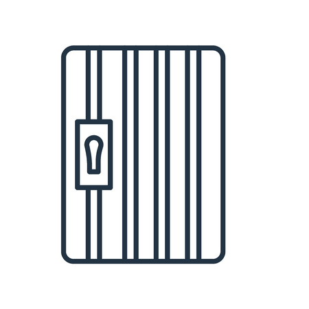 Prison icon vector isolated on white background, Prison transparent sign