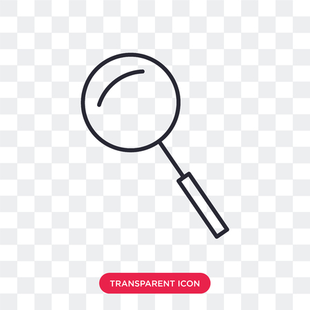 Loupe vector icon isolated on transparent background, Loupe logo concept