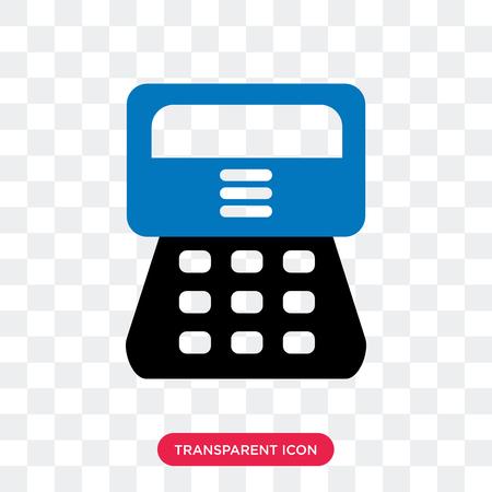 Icône de vecteur de caissier isolé sur fond transparent, concept logo caissier