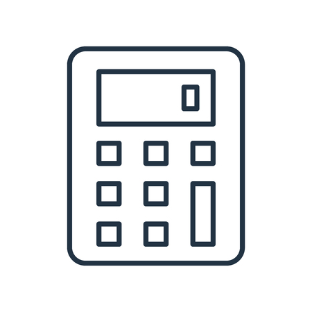 Calculator icon vector isolated on white background, Calculator transparent sign Illustration