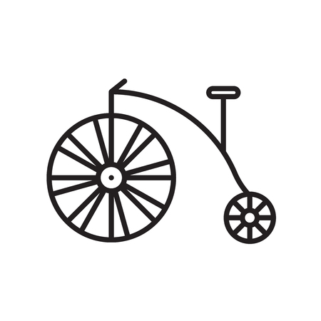 Bicycle icon vector isolated on white background, Bicycle transparent sign , thin line design elements in outline style