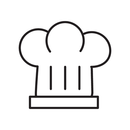 Chef icon vector isolated on white background, Chef transparent sign , thin line design elements in outline style