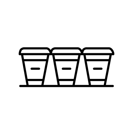 Cups icon vector isolated on white background, Cups transparent sign , thin line design elements in outline style Illustration