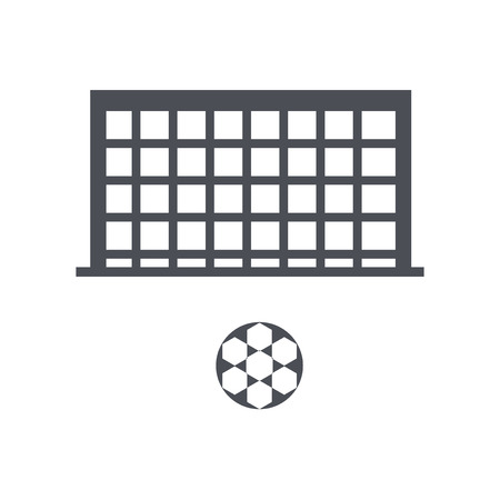 Football icon vector isolated on white background for your web and mobile app design, Football logo concept