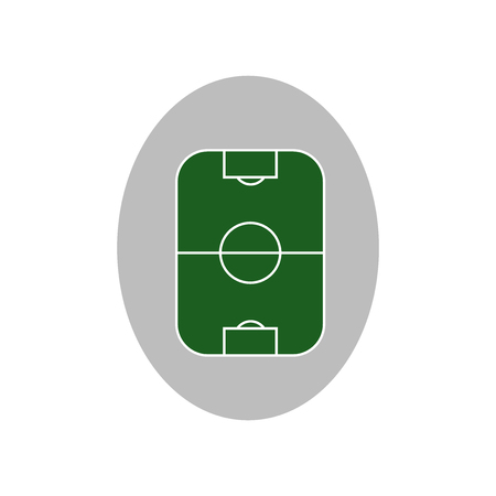 Football pitch icon vector isolated on white background for your web and mobile app design, Football pitch logo concept