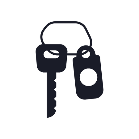 Room key icon vector isolated on white background for your web and mobile app design, Room key logo concept