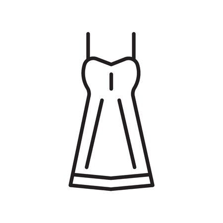 Dress icon vector isolated on white background, Dress transparent sign , thin line design elements in outline style