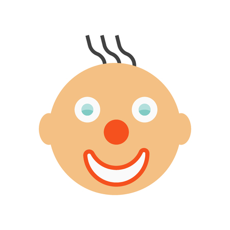 Clown smile icon vector isolated on white background for your web and mobile app design, Clown smile logo concept
