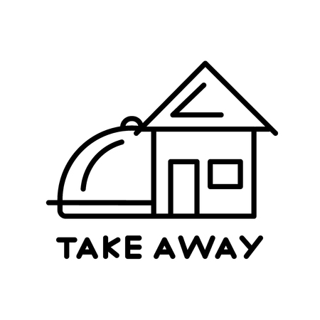 Take away icon vector isolated on white background, Take away transparent sign , thin line design elements in outline style