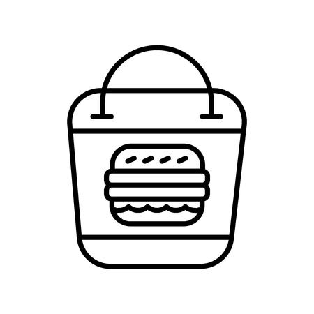 Emporter le vecteur d'icône isolé sur fond blanc, emporter signe transparent, éléments de conception de fine ligne dans le style de contour Vecteurs