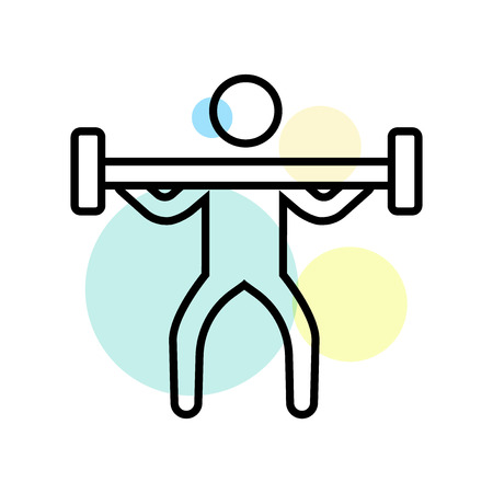 Weightlifting icon vector isolated on white background for your web and mobile app design, Weightlifting logo concept