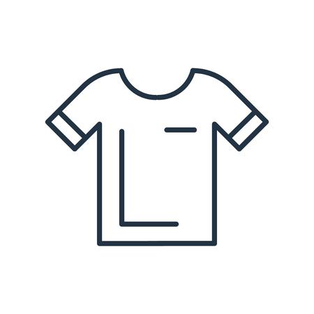 Hemdikonenvektor lokalisiert auf weißem Hintergrund, Hemd transparentes Zeichen