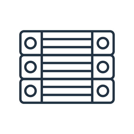 Archive icon vector isolated on white background, Archive transparent sign Illustration
