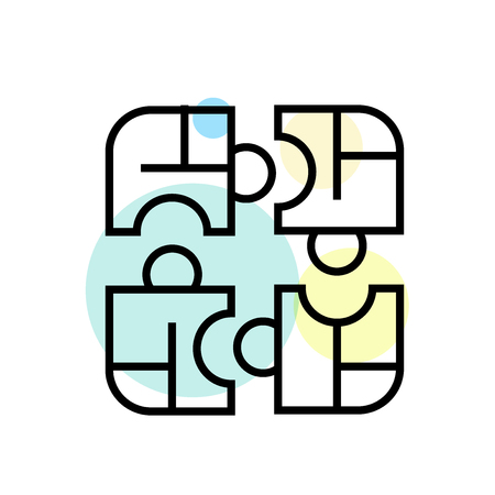 Puzzle icon vector isolated on white background for your web and mobile app design, Puzzle logo concept