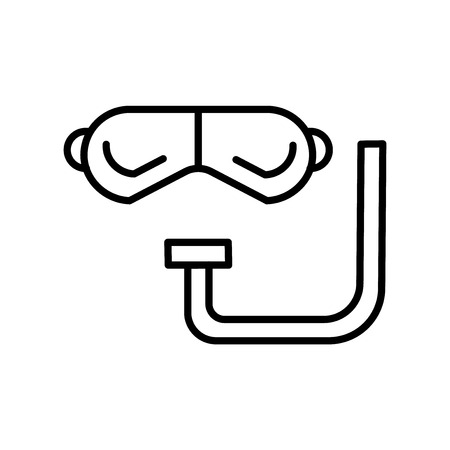 Snorkel icon vector isolated on white background for your web and mobile app design, Snorkel logo concept