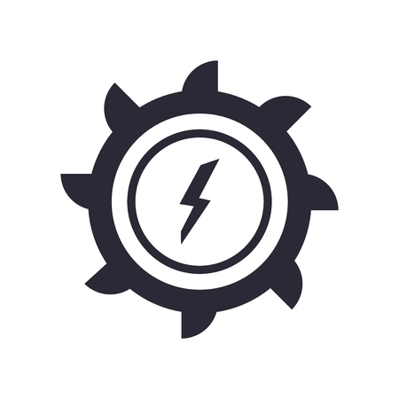 Hydro power generation icon vector isolated on white background for your web and mobile app design, Hydro power generation logo concept