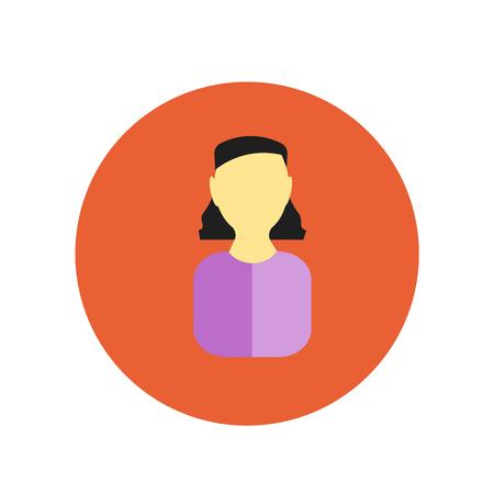 Vecteur d'icône d'avatar isolé sur fond blanc pour la conception de votre application web et mobile, concept de logo Avatar Logo