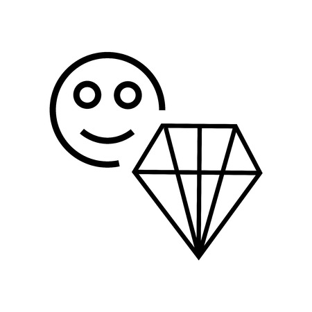 Diamond icon vector isolated on white background for your web and mobile app design, Diamond logo concept