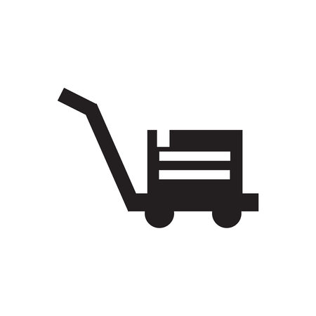 Pushcart icon vector isolated on white background for your web and mobile app design, Pushcart logo concept