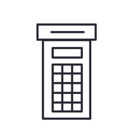 Phone booth icon vector isolated on white background for your web and mobile app design, Phone booth logo concept