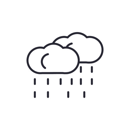 Rainy icon vector isolated on white background for your web and mobile app design, Rainy logo concept