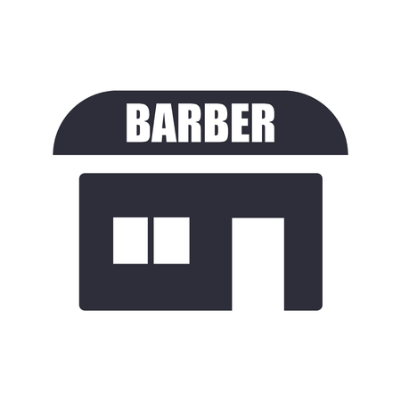 Barbershop icon vector isolated on white background for your web and mobile app design, Barbershop logo concept Illusztráció