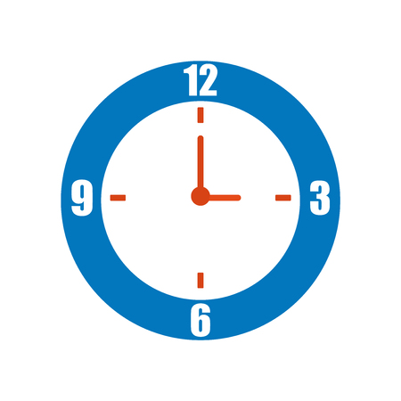 Clock icon vector isolated on white background for your web and mobile app design, Clock logo concept Ilustração