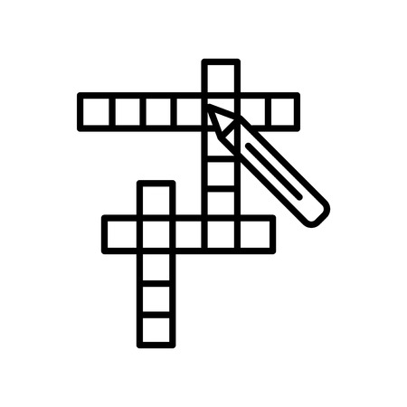 Crossword icon vector isolated on white background for your web and mobile app design, Crossword logo concept