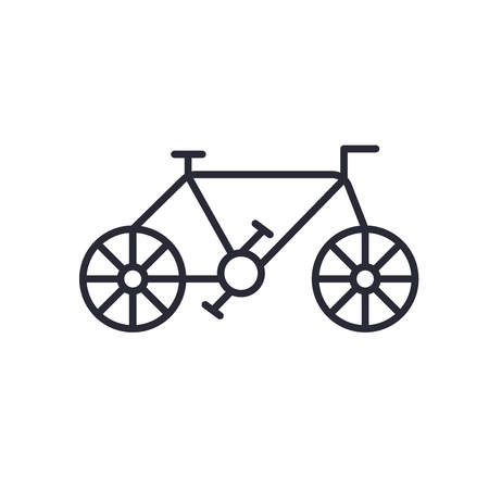 Old Bicycle icon vector isolated on white background for your web and mobile app design, Old Bicycle logo concept Illustration