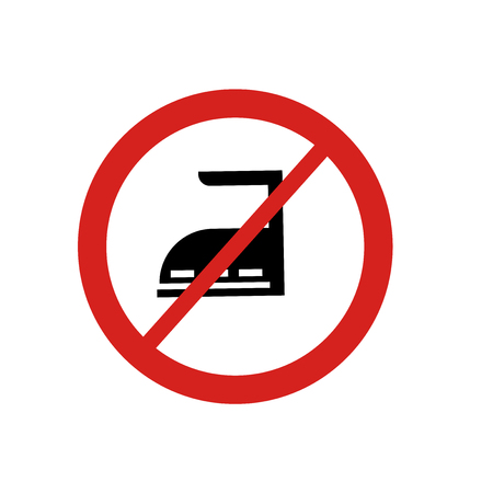 No ironing icon vector isolated on white background for your web and mobile app design, No ironing logo concept